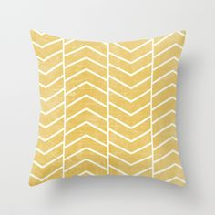 Yellow Chevron by Zeke Tucker as a high quality Throw Pillow. Free Worldwide Shipping available at Society6.com from 11/26/14 thru 12/14/14. Just one of millions of products available.