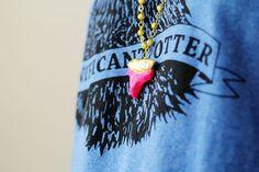 Beach Bound? DIY This Clay Shark Tooth Necklace via Brit + Co.