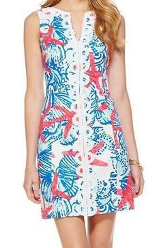 Lilly Pulitzer Janice Shift Dress in She She Shells    129      11