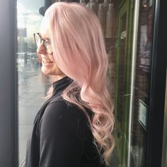 Aveda pink hair by h