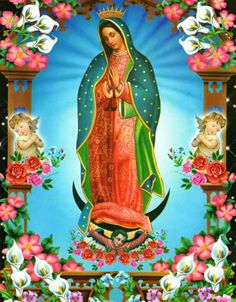 guadalupe Art Print by Aldo Couture - X-Small Virgin Mary Painting, Virgin Mary Art, Blessed Virgin Mary, Holy Mary, Jesus Pictures, Mexican Art, Blessed Mother, Mother Mary, Religious Art