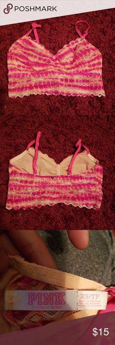 Victoria's secret pink bralette Victoria's secret pink bralette worn a few times still in good condition PINK Victoria's Secret Intimates & Sleepwear