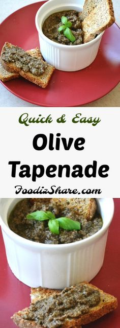 An excellent recipe for Olive Tapenade, a traditional French Provencal spread or condiment popular at restaurants and as an Hors d'œuvre. #glutenfree #dairyfree #olive #dips #snacks #appetizer #gameday #holiday #healthy #food #recipes