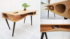 Here's a very interesting piece of furniture design that's oh so very Hauspanther. It's the CATable designed by Ruan Hao from the Hong Kong-...