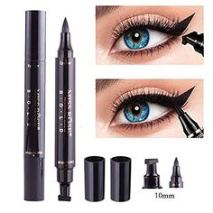 Beauty Essentials Eyeliner 1pc Double-headed Seal Black Eyeliner Triangle Seal Eyeliner 2-in-1 Waterproof Eyes Make Kit With Eyeliner Pen New Sufficient Supply