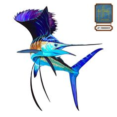 "Guy Harvey's Lit Up Sailfish is one of our most popular decals.  It shows the exciting colors Sailfish have when they are excited or ""lit up."""