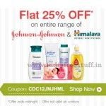 nice Himalaya & Johnson and Johnson Baby Products 25% off on Rs. 200 @ Firstcry