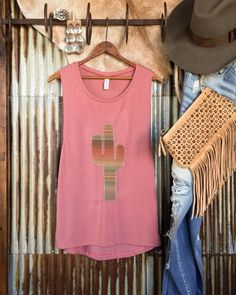 Three of our favorite things just collided -- cacti serape and this dusty rose tank. Don't you agree? #cactus #cacti #savannah7s #savannahsevens #serape #dustyrose