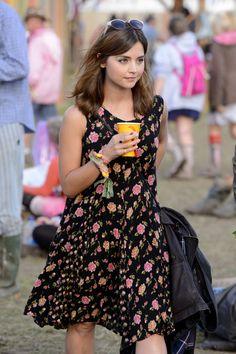 Jenna Coleman at Glastonbury 2014