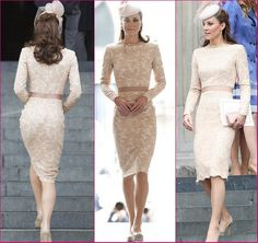 Kate Middleton Stuns in Lace Alexander McQueen Dress