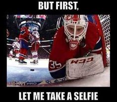 But first... let me take a selfie!! #Hockey #Goalie