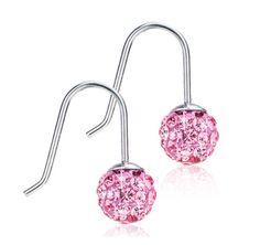 Crystal Drop White- nickel free earrings from Blomdahl USA