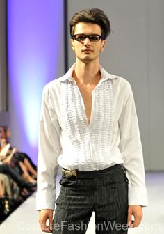 #moteuke #design #RobertFlores #model #stil #herre #mote #couture #fashion #designer #2013 #hvit #skjorte