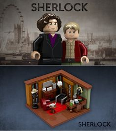 How Amazing is This Sherlock LEGO Set? Oh god, make it happen! I am such a nerd for LEGO!!!