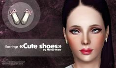 Cute shoes earrings by  Neka-mew - Sims 3 Downloads CC Caboodle