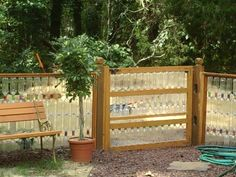love this water bottle fence the dogs can see out and it is FUN!