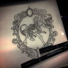 Risultati immagini per dinosaur tattoo