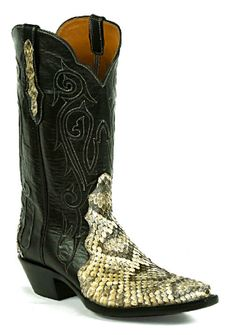 Snake Snakeskin Triad Boots Style 1492 Custom-Made by Black Jack Boots 2e87e6d5163d