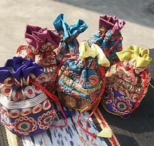 Ethnic Indian Potli Pouch Wedding Favor Gift Jewelry Packing Bag