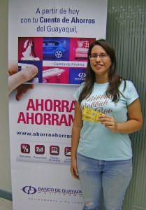 Banco de Guayaquil, como parte de la campaña Ahorras Ahorrando, realizó un concurso en Twitter para ganar entradas a la obra de teatro La novicia rebelde, de Danzas Jazz.  Los participantes debían contar la trama de la obra con el hashtag  #AhorrasAhorrando.