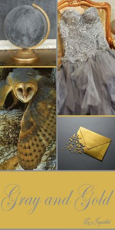 """Good evening ladies. I am a bit late posting tonight. And I quickly put this color board together, So tonight let's pin these colors of """" GRAY AND GOLD """" Thanks for the lovely pins today. Happy Pinning. ❤"""
