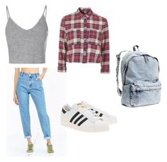 """""""Untitled #27"""" by clareledgett ❤ liked on Polyvore featuring Native Youth, Glamorous, Topshop, adidas Originals and H&M"""