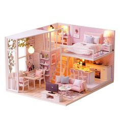 Model Building Gentle Girl Furniture Diy Miniature Doll House Doll Houses 3d Wooden Miniature Dollhouse Furniture Kit Barts Home Christmas Kids Toys Vivid And Great In Style Architecture/diy House/mininatures