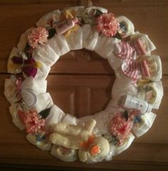 Diaper Wreaths - Diaper Creations by Jocelyn