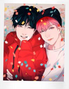 Read from the story yoonseok fanart by MoonTaeil_bby (Haechanie🧡) with 778 reads. Yoonmin, Foto Bts, Saranghae, Min Yoonji, Wattpad, Bts Drawings, Cartoon Drawings, Army Love, Bts Chibi