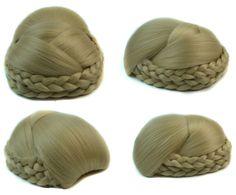 Q48  Elastic bride hair bun hair  color of 613# clip in hair bun bridal hair chignon
