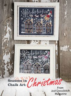 Seasons in Chalk Art: Christmas from the Nov/Dec 2016 issue of Just CrossStitch Magazine. Order a digital copy here: https://www.anniescatalog.com/detail.html?prod_id=134201
