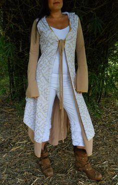 Extra Large - Organic Cotton Shipibo Print Cloak - Cape - Eco Fshion - Tribal Fusion - Flamenco - Woodland - Jacket. $137.00, via Etsy.