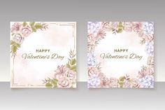 Premium Vector | Hand drawn floral valentine's day greeting card or banner Valentines Day Background, Happy Valentines Day, Wedding Invitation Card Template, Wedding Invitations, Valentine's Day Greeting Cards, Vector Hand, Hand Drawn, How To Draw Hands, Banner
