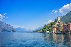 Malcesine on Lake Garda Travel Goals, Us Travel, Verona, Antalya, Comer See, Dock Of The Bay, Italian Lakes, Lake Garda, Holiday Destinations