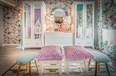 Têxteis | Textiles | Almofadas | Cushions | Pink | Flower Prints | Curtains
