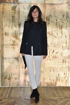 Emmanuelle Alt while attending the Prada Resort 2018 Womenswear Show in Osservatorio on May 7, 2017 in Milan, Italy.