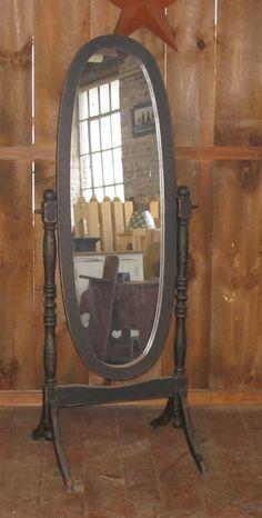 Vintage Cheval Mirror Full Length Floor Standing | Cheval mirror ...