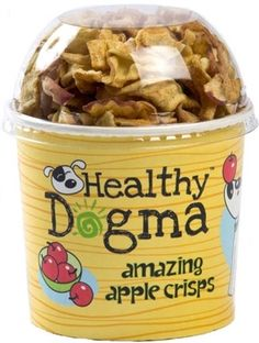 Healthy Dogma Apple Crisps Dog Treats are a healthy-crunchy option to regular dog biscuits. Naturally dehydrated and sugar free. #dogtreats #healthydogs