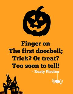 Trick or Treat contains 101 festive holiday poems all about my favorite time of year… October, costumes, candy and the thrills of trick or treating. From costumes to candy and everything in between, enjoy them all… this Halloween! Halloween Rhymes, Halloween Poems, Halloween House, Spooky Halloween, Happy Halloween, Pumpkin Poem, Holiday Poems, Laundry Signs, Holiday Festival
