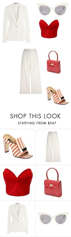 """""""Humorous"""" by niyahobla on Polyvore featuring Sergio Rossi, Ermanno Scervino, Versace, Louis Vuitton, Maison Margiela and MaxMara"""