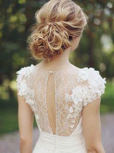 20 Romantic Bridal Updos | SouthBound Bride | http://southboundbride.com/20-romantic-bridal-updos | Credit: Sonya Khegay/Latte Decor/Ajur Wedding/Elena Otrembskaya via Magnolia Rouge