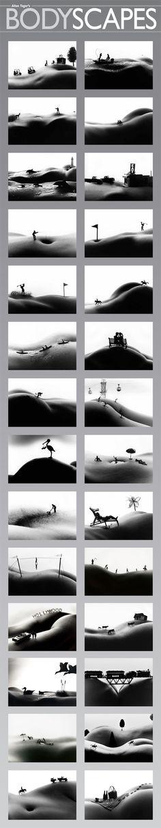 Bodyscapes (Grid) Art Poster Print - Allan Teger