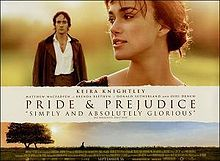 Pride and Prejudice.  Can I trade places with Lizzy?  Love Darcy...