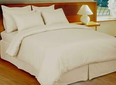 """Ivory 600tc Down Alternative Bed in A Bag, 100% Egyptian Cotton, California King by Royal Tradition. $179.99. 1- Cal-King Down Alternative comforter(106x90"""" White). 2- Cal-King Pillow Shams (20x36""""), 1- Cal-King Duvet Cover(106x92""""). 8PC California King Set Includes:. 2- King Pillow Cases(20x40""""). 1- Cal-King Fitted Sheet(72x84""""), 1- Cal-King Flat Sheet(110x102""""). This Luxury item was made with easy-care in mind, the Down Alternative comforter is included along with a luxury..."""