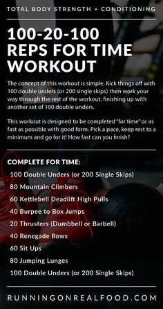 How fast can you complete this conditioning workout? Get ready to sweat with burpee box jumps, mountain climbers, lunges, kettlebell deadlifts, sit ups and more. This workout should take less than 30 minutes. Click for all the details. via @runonrealfood Emom Workout, Jump Workout, Upper Body Kettlebell Workout, Total Body Workouts, Workouts Hiit, Circuit Training Workouts, Kettlebell Training, Tabata, Burpee Box Jumps