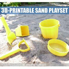 Free STL 3D-printable sand play set, CreativeTools