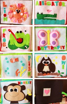 Very cute quiet book pages! :)