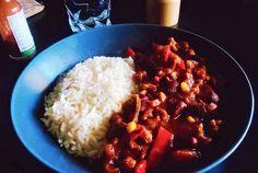 Chili aux protéines de soja texturées, recette - Vegan Pratique
