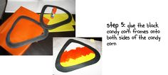 the teacher wife: tutorial: candy corn art
