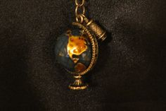 Antique Brass Chain with Globe and Binoculars by ThreePinkPumpkins, $28.00